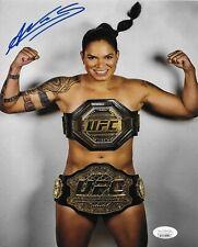 AMANDA NUNES UFC BRAZIL THE GOAT SIGNED AUTOGRAPH 8X10 PHOTO #6 w/ JSA COA