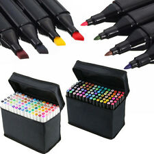 168 Colors Sets Touch Graphic Art Twin Tip Pen Markers Broad Fine Point US SHIP