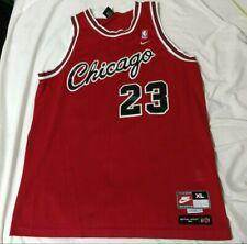 860a88779c6 Vintage Retro Nike Michael Jordan 1984 Chicago Bulls flight red jersey size  XL