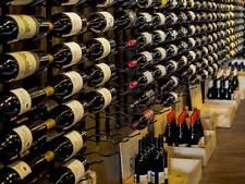 """Metal """"Strip"""" Wine Storage Rack - 18 bottles per wall rack"""