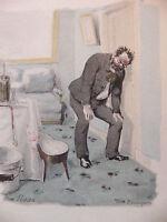 Simili Aquarelle L'oeuvre de Zola 1898 par H Lebourgeois Nana
