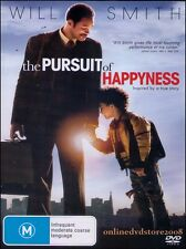 The PURSUIT of HAPPYNESS (Will SMITH) True Story Film DVD Region 4 Happiness