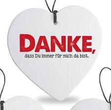 """Formano Herz hängend 15cm """"danke"""" 749345"""