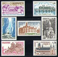 France 1978 Tourism/Bridge/Church/Chateau/Abbey/Gorge/Buildings 7v set (n30135)