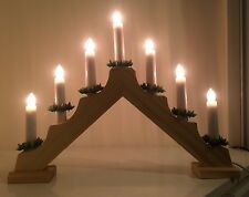 7 lightwooden Vela Puente Navidad Luces window/mantlepiece decoration/mains