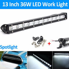 13INCH 36W CREE LED WORK LIGHT BAR SPOT OFFROAD LAMP 4WD BOAT ATV DRIVING SUV