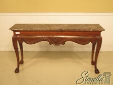 43076E: Marble Top Ball & Claw Georgian Style Console Table