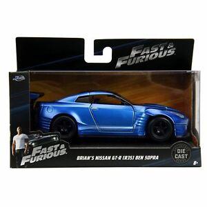 1:32 Brian's 2009 Nissan GTR R35 -- Blue Ben Sopra -- Fast & Furious JADA