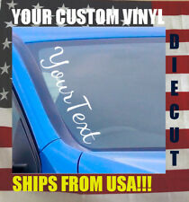 Custom Text Many Fonts Vehicle Vinyl Side Decal Sticker Car Truck Decals