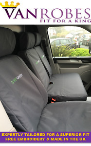 VW Transporter T6 2015 on Tailored Van Seat Covers. + Free Embroidery.
