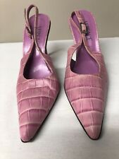 Versace Leather Slingbacks Heels Shoes Made in Italy 36 US Size 6