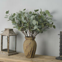 Artificial Fake Leaf Eucalyptus Green Plant Silk Flowers Nordic Home Decor Lot