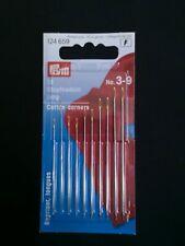 Prym Cotton Darners Darning Needles Long Steel 3-9 Silver Color gold eye