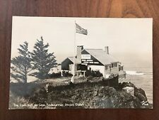 The Lookout on Cape Foulweather  Coast Oregon OR Real Photo Postcard RPPC