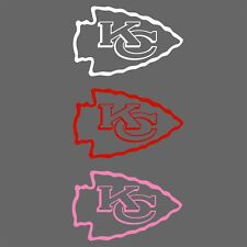 Kansas City Chiefs Decal White Red Pink, Many Sizes Free Shipping