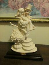 G. Armani Capodimonte Florence Italy Just Married Wedding Figurine Bride & Groom