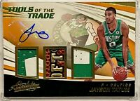 JAYSON TATUM 2017-18 Panini Absolute TOTT Orange Jersey Rookie Auto /25 HOT 🔥RC