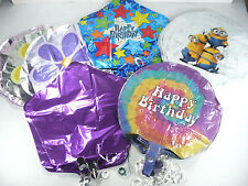 """Lot of 90+ Assorted Mylar Foil Helium Balloons 16"""" and Larger Number Ribbon NEW"""