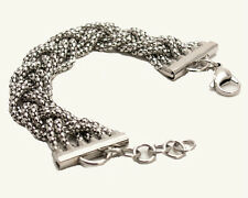 WOMEN'  STAINLESS STEEL  TWISTED BRAIDED SOLID  LINKS BRACELET