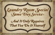 (Laundry Room Special) WALL DECOR, DISTRESSED,PRIMITIVE,HARD WOOD, SIGN, PLAQUE
