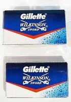 10 X Gillette Wilkinson Sword Stainless Steel Double Edge Safety Razor Blades 5s