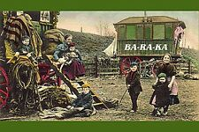 VICTORIAN GYPSY WAGON ROMA VARDO POSTCARD GYPSIES TRAVELERS VAN TRAILER PHOTO