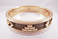House of Harlow 1960 14KT Y/G Plated Khaki Aztec Bangle NEW