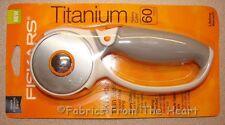 Fiskars Titanium Blade Rotary Cutter 60mm Softgrip Quilting Sewing Scrapbooking