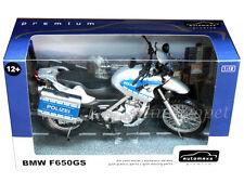 AUTOMAXX 600404PO BMW F650 GS POLICE POLIZEI MOTORCYCLE 1/12 SILVER
