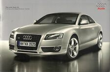 Audi A5 Coupe 2007 UK Market Sales Brochure 3.0 TDi Quattro S5 Sport
