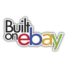 construido en ebay nuevo logo adhesivos 110 x 55mm juego de 2 adhesivos
