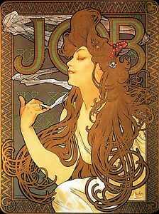 "Australia 28"" alphonse mucha vintage art nouveau print job CANVAS painting"