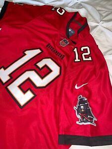 30% off Tom Brady Tampa Bay Buccaneers #12 Adult Men L XL 2XL Red Jersey