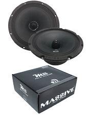 (2) 8 Inch DJ PA Home Car 8 Ohm Full Mid Range Speaker Loud Massive M6 560W