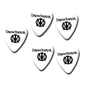 Dream Theater full colour Guitar Pick Plectrum necklace bracelet keyring white