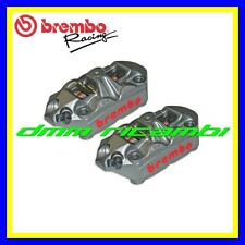 Kit 2 pinze freno radiali BREMBO RACING M4 34 monoblocco interasse 108 mm.