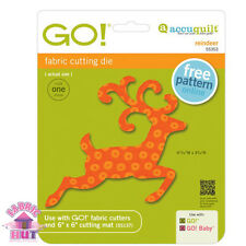 Accuquilt GO! Fabric Cutter Die Reindeer Antlers Quilting Sewing 55353
