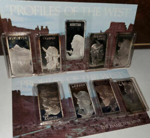 Hamilton Mint Profiles of The West Sterling Silver 24.96 Troy Ounce 24 Bars