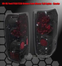 87-96 FORD F-150 F-250 F-350/89+ BRONCO TAIL BRAKE LIGHTS SMOKE LEFT+RIGHT PAIR