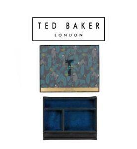 Ted Baker Monkian Valet Luxury Tray For Accessories Blue Velvet with Gift Box