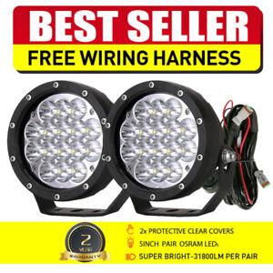 OSRAM Black 5INCH Round LED Spot Driving Work Lights Offroad ATV SUV Headlights