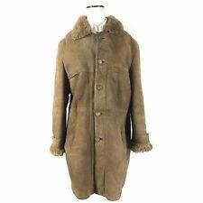 Men's Genuine Shearling Sheepskin Leather Coat Marlboro Man Made in Germany 40 R