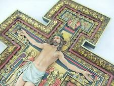 "Large San Damiano Crucifix Wall Cross Renaissance Christian Home Decor 18""H Gift"