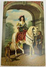 Vintage Postcard  Equestrian Portrait Millais and Landseer Stengel & Co Dresden