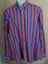 Tommy Hilfiger Mens Button Down Shirt Size XXL 2XL Red White Blue Stripes EUC