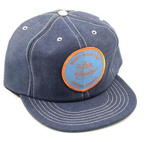 VTG Bounty Mining Ship Patch Denim SnapBack Trucker Hat Cap Made USA Grundy VA H