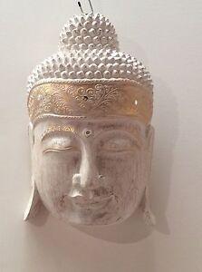 TIMBER BUDDHA HEAD WALL HANGING