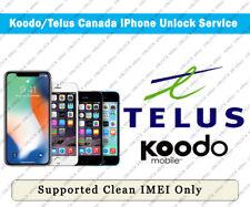 Unlock Telus & Koodo Canada iPhone Xs Max/Xs/Xr/X/8/8+/7/7+/6S/6S+/SE/5S/5C/5/4S