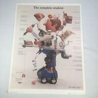 """1979 John Martin Gilbert Poster The Complete Student 70's Dorm Art 24""""x 18"""""""