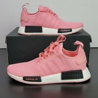 New Adidas Originals NMD_R1 Boost Pink Black Shoes B42086 Women's US Size 8.5/7Y